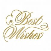 Couture Creations Hot Foil Stamp - Best Wishes - CO725292